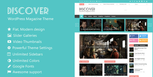 Discover - Flat WordPress Magazine Theme