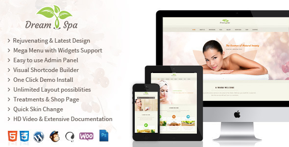 DreamSpa - Responsive Beauty Salon WordPress Theme