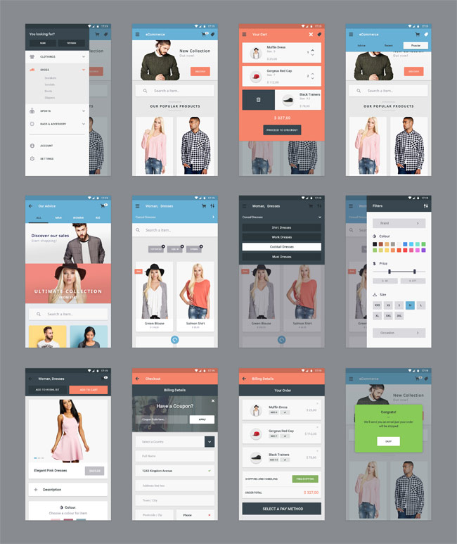 E-Commerce-App-UI-Kit-PSD