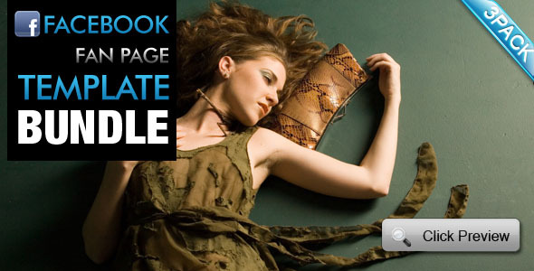 Facebook Fan Page Template Bundle