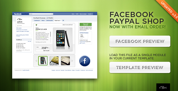 Facebook Paypal Shop Template