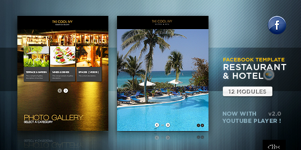 Facebook Restaurant & Hotel Template