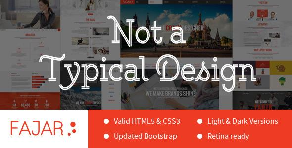 Fajar One Page Multi-Purpose Design