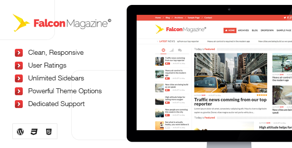 Falcon - Responsive WordPress Magazine Theme