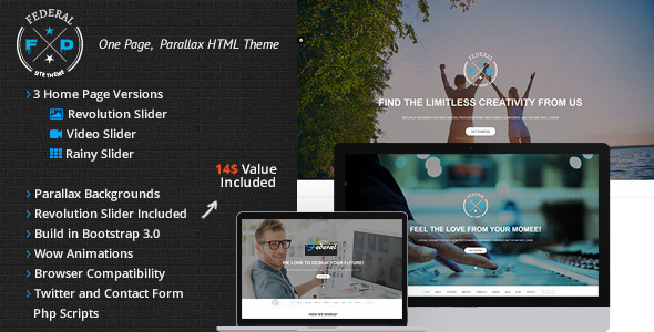 Federal OnePage Parallax Responsive