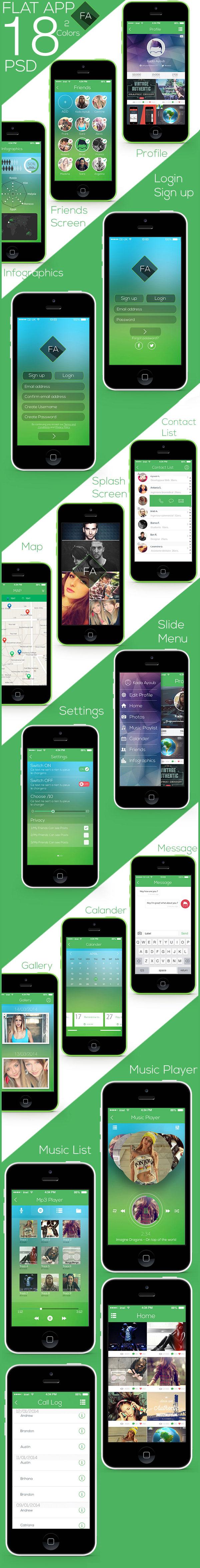 Flat-App-UI-PSD