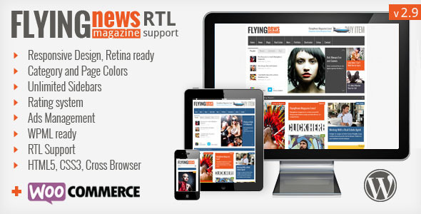 FlyingNews - Responsive WordPress Magazine