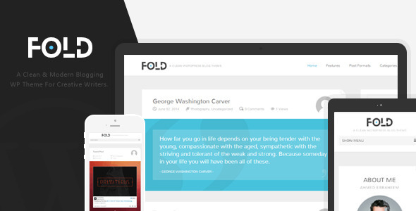 Fold - Clean & Flat WordPress Blog Theme