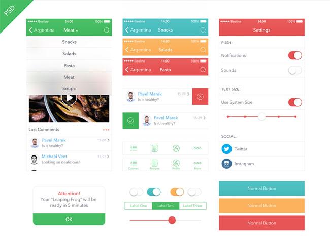Food-App-UI-Kit-for-iOS-7