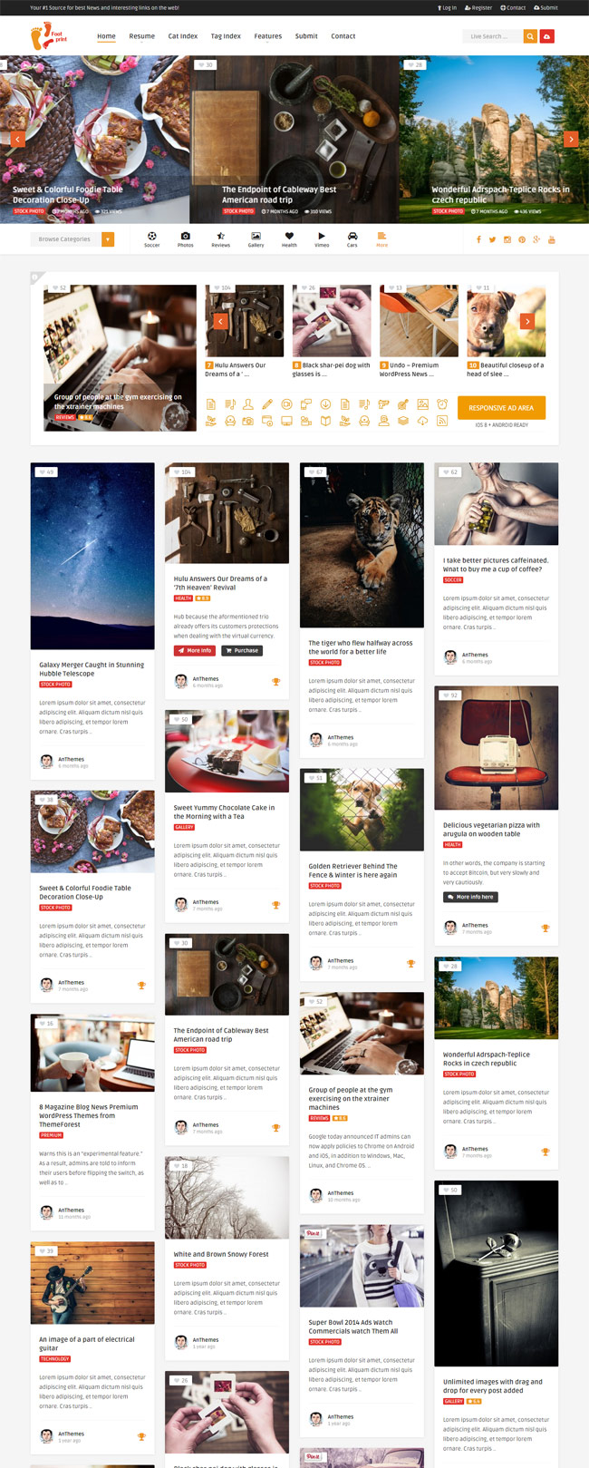 Foot-Grid-Front-End-Submission-Content-Sharing-Wordpress-Theme