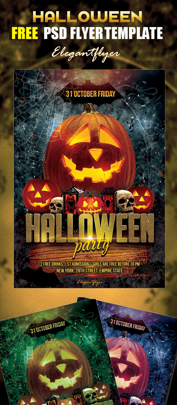 Free-Halloween-Party-Flyer-PSD-Template