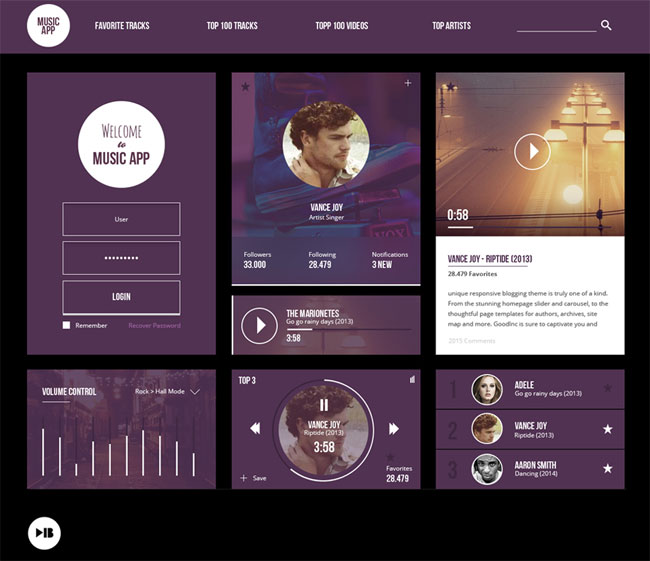 Free-Music-App-UI-Kit-PSD