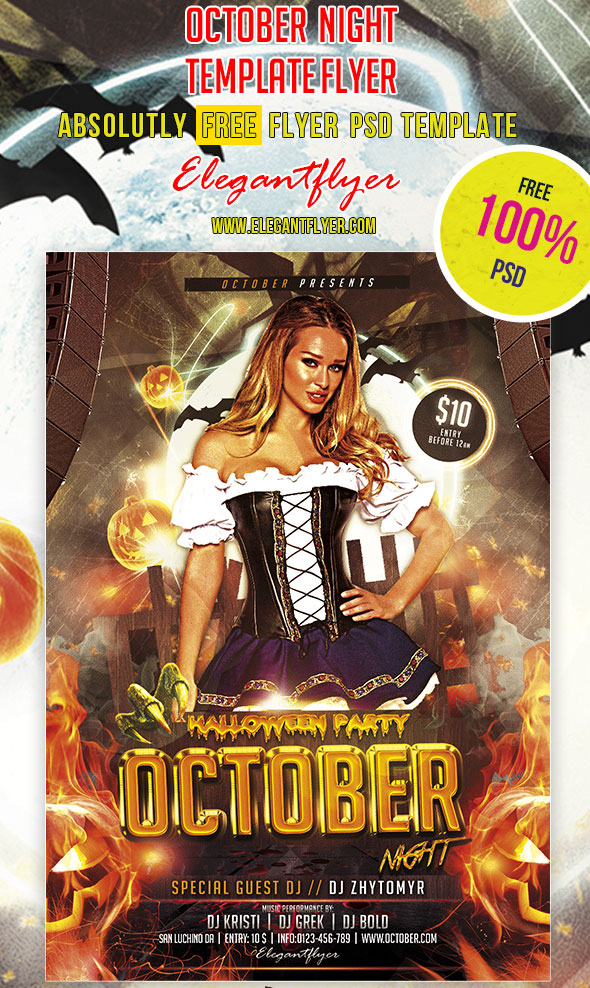 Free-October-Night-Halloween-Flyer-PSD-Template
