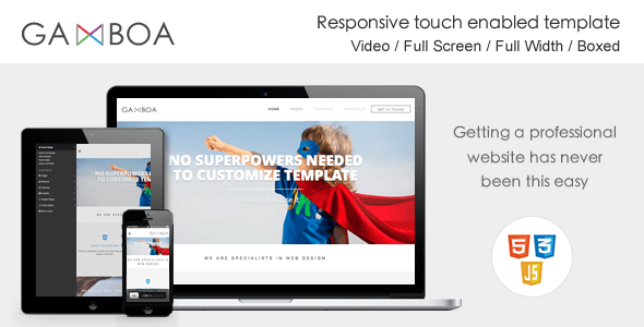 Gamboa - Responsive Touch Enabled Template