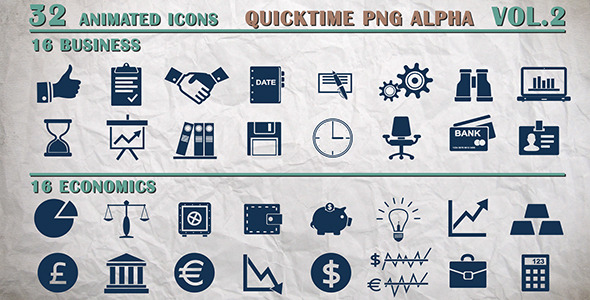 Info Icons - Business and Economics