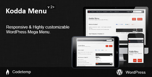 Kodda - Responsive WordPress Mega Menu