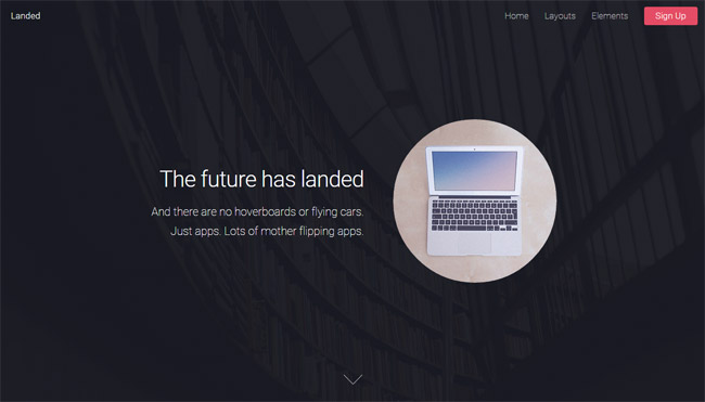 Landed-Free-Responsive-HTML5-Css3-template