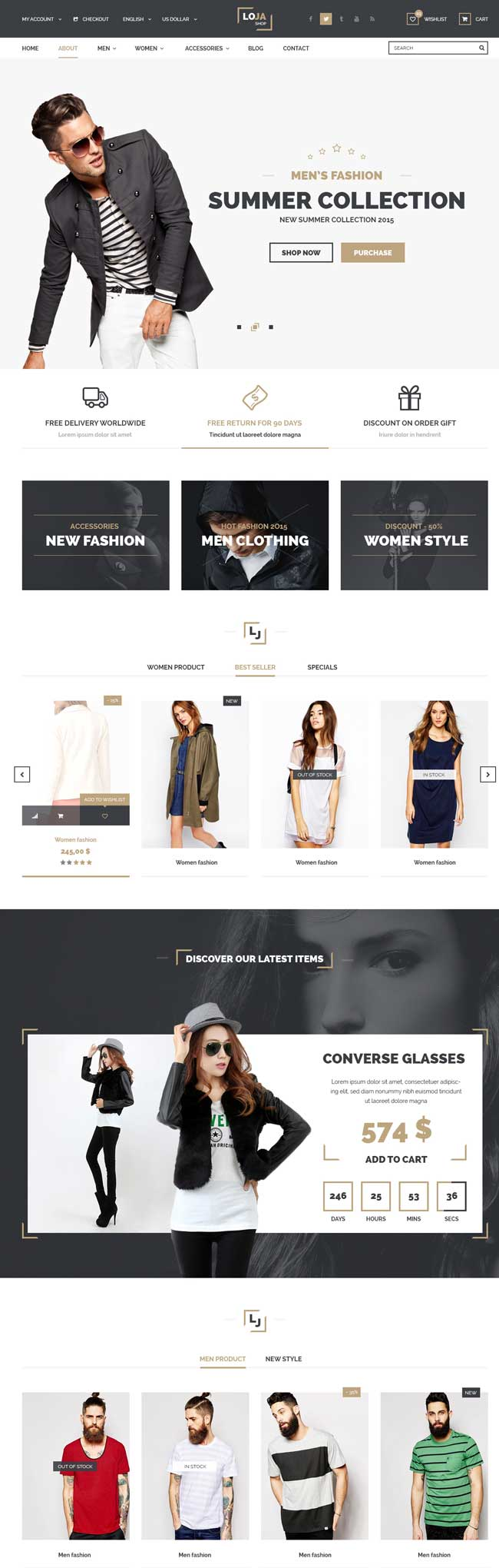 Loja Responsive Fashion Magento Theme