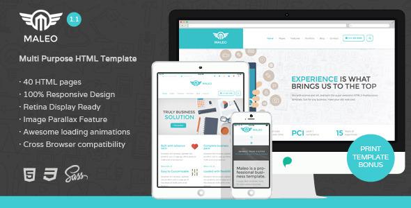 Maleo - Multipurpose HTML5 Template