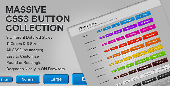Massive Modern CSS3 Button Collection