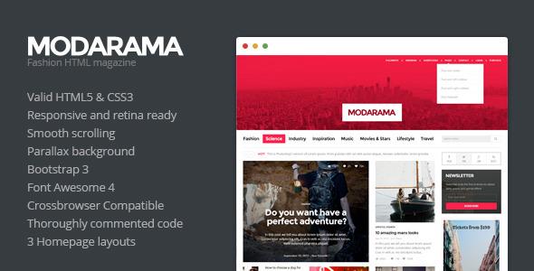 Modarama - Magazine HTML5 Template