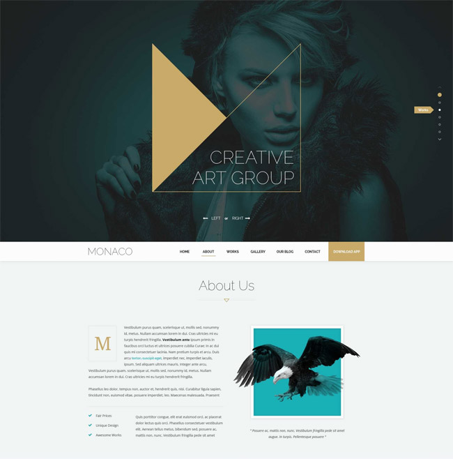 35 responsive html5 css3 website templates 2015 monaco creative html5 css3 bootstrap template friedricerecipe Image collections