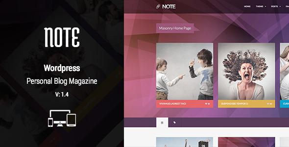 Nillnote - Multipurpose Personel Blog Magazine