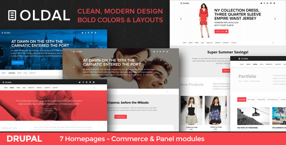 Oldal - Business & eCommerce Drupal Theme