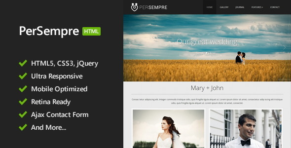 PerSempre - Minimal HTML5 Template