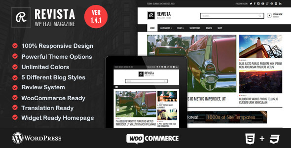 Revista - Ultimate Flat Magazine WordPress Theme