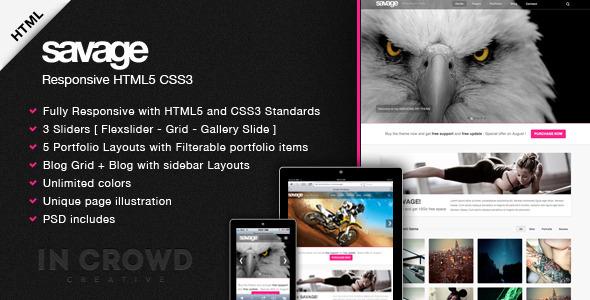 Savage - Responsive HTML5