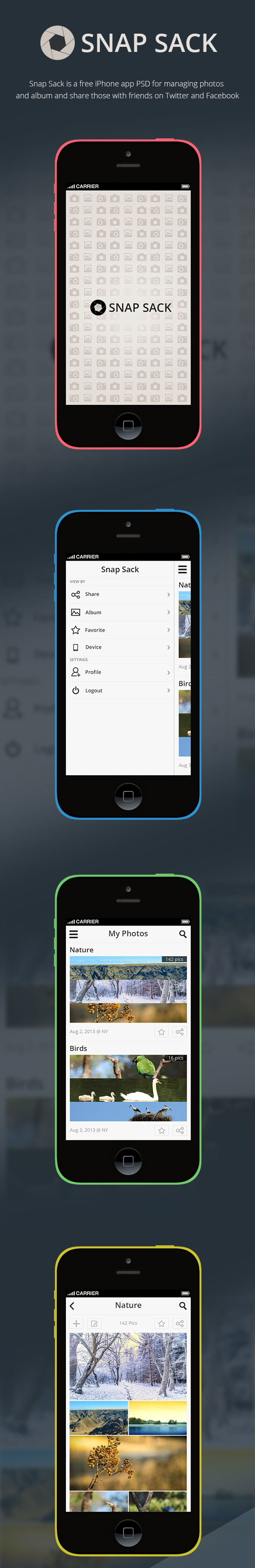 Snap-Sack-App-PSD-for-iPhone