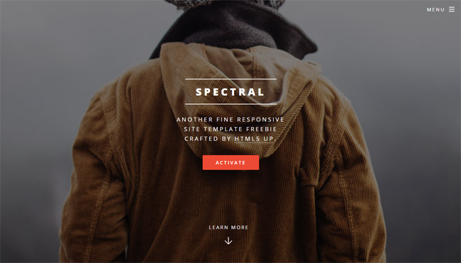 Spectral-Free-HTML5-CSS3-Template