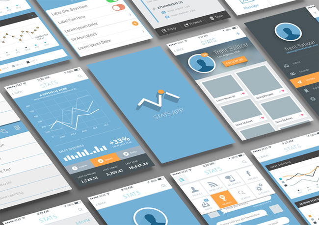 Statistics-and-Analysis-App-UI-PSD