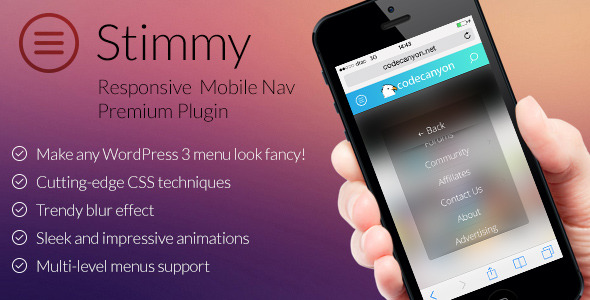 Stimmy - Responsive Mobile Menu for WordPress