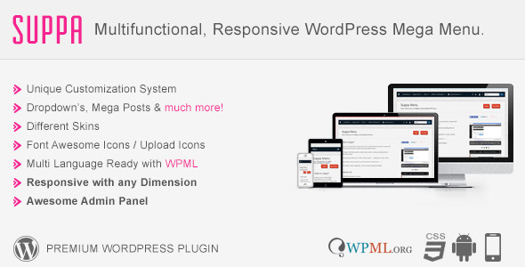 Suppa - Multi-Purpose WordPress Mega Menu