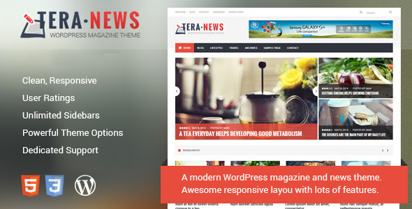TeraNews - Responsive WordPress Magazine Theme