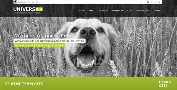 Universfolio - Multipurpose HTML5 & CSS3 Template