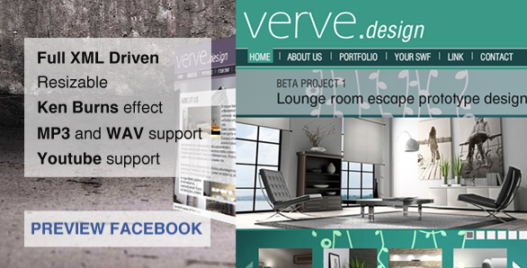 Verve - Facebook Fan Page Template