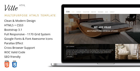 Ville - Responsive Multipurpose HTML5 Template
