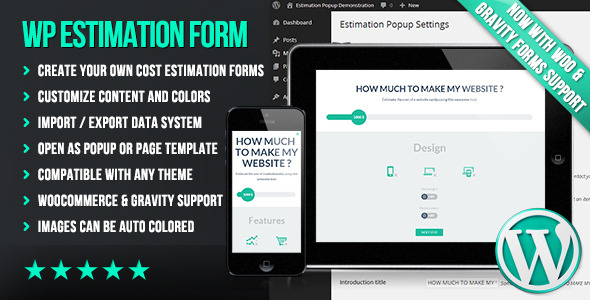 WP Flat Cost Estimation Form Creator
