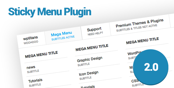 WP Sticky Menu Plugin