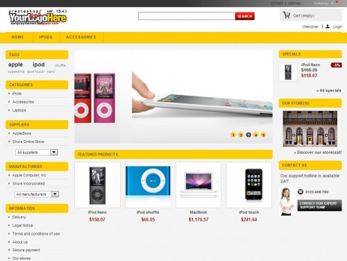 Yellow Theme – Free Prestashop Themes