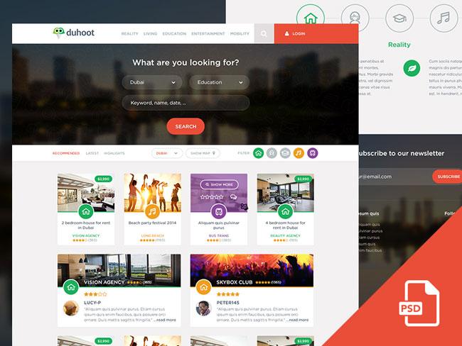 free-duhoot-portal-psd-template