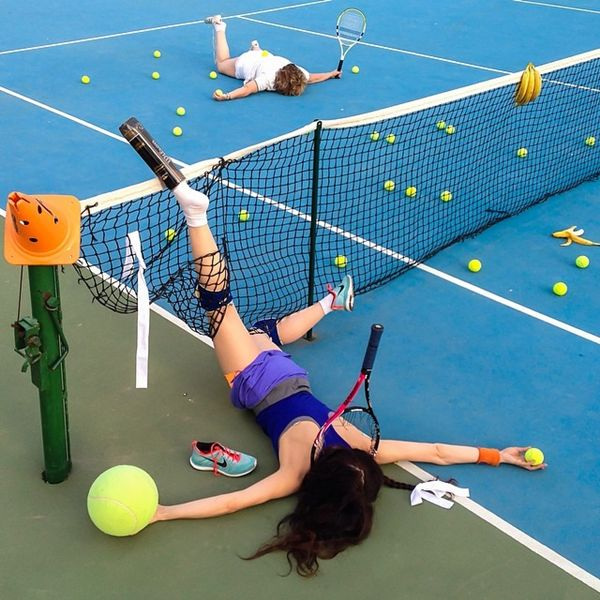 Funny Photos of Young People Posed as if They Have Just Fallen Down