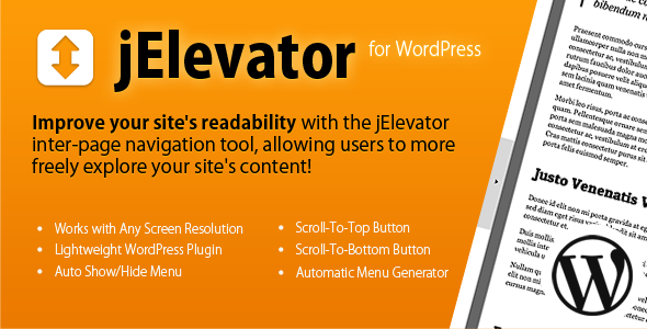jElevator Plugin for WordPress