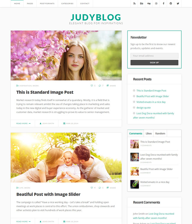 judyblog-elegant-blog-wordpress-theme
