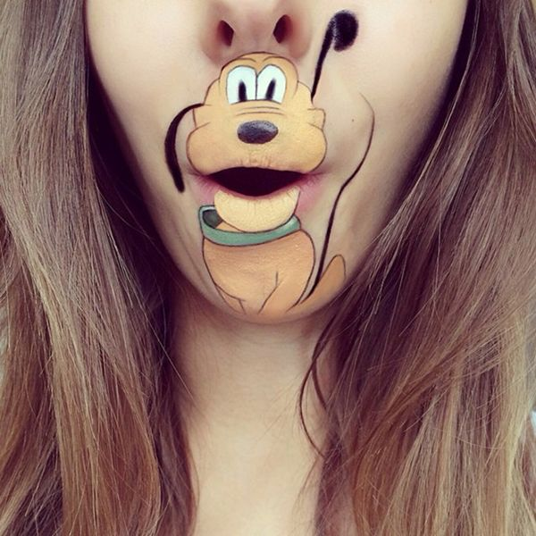 Creative lip makeup
