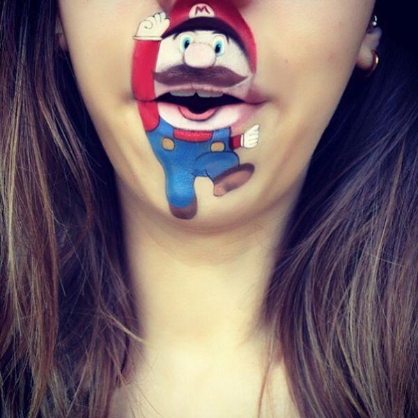 Creative lip makeup