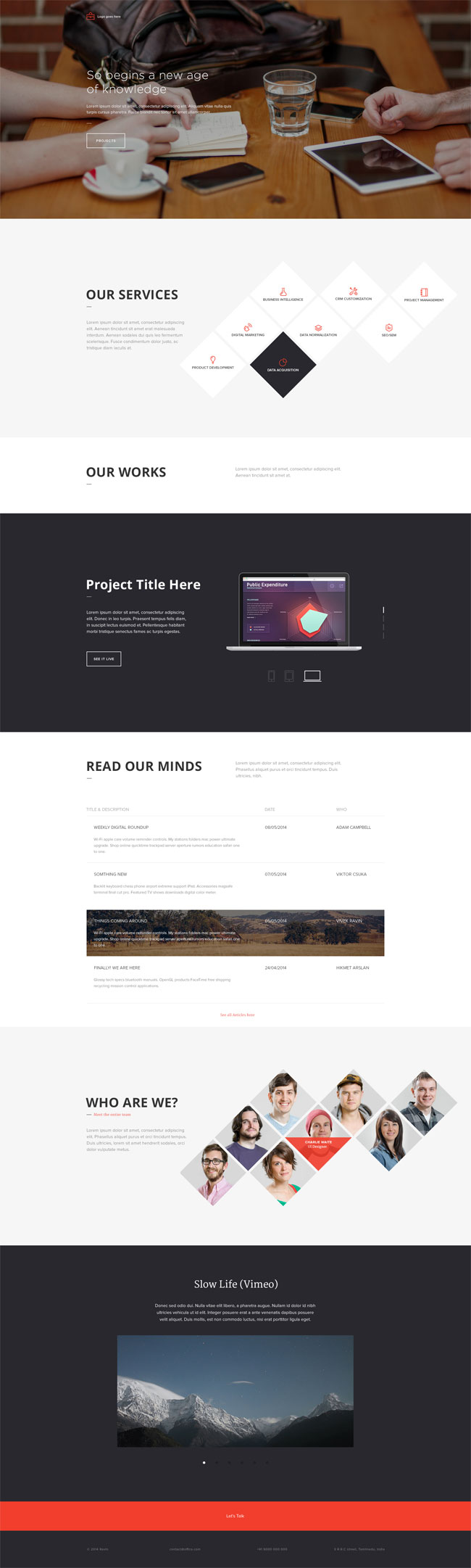 Office Landing Page PSD Template